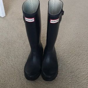 Hunter boots sz 5 kids navy blue